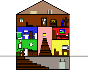 clipart basement haus basic rooms attic clip zeichnung architectural kostenlose grundlegende clipground naechster vorheriger openclipart freeuse publicdomainvectors