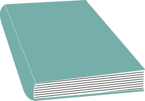Blue closed book vector graphics