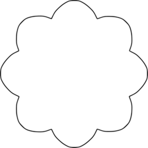 9069 lotus flower outline clip