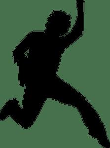 Gambar Orang Loncat : gambar, orang, loncat, Jumping, Clipart, Public, Domain, Vectors