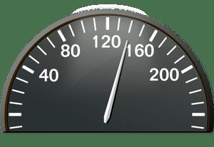 Vector drawing of half of speedometer