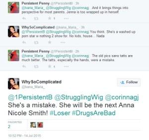 Ivana Maria Horna and Penny suicide coercion tweets 2015 Jenna Jameson 01