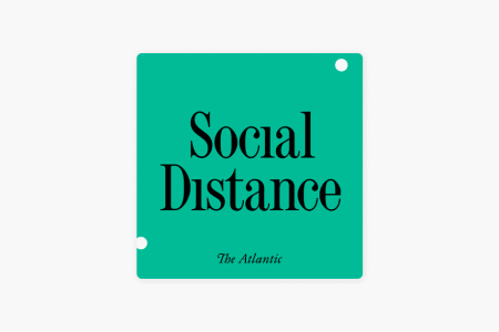 Logo for the Social Distance podcast
