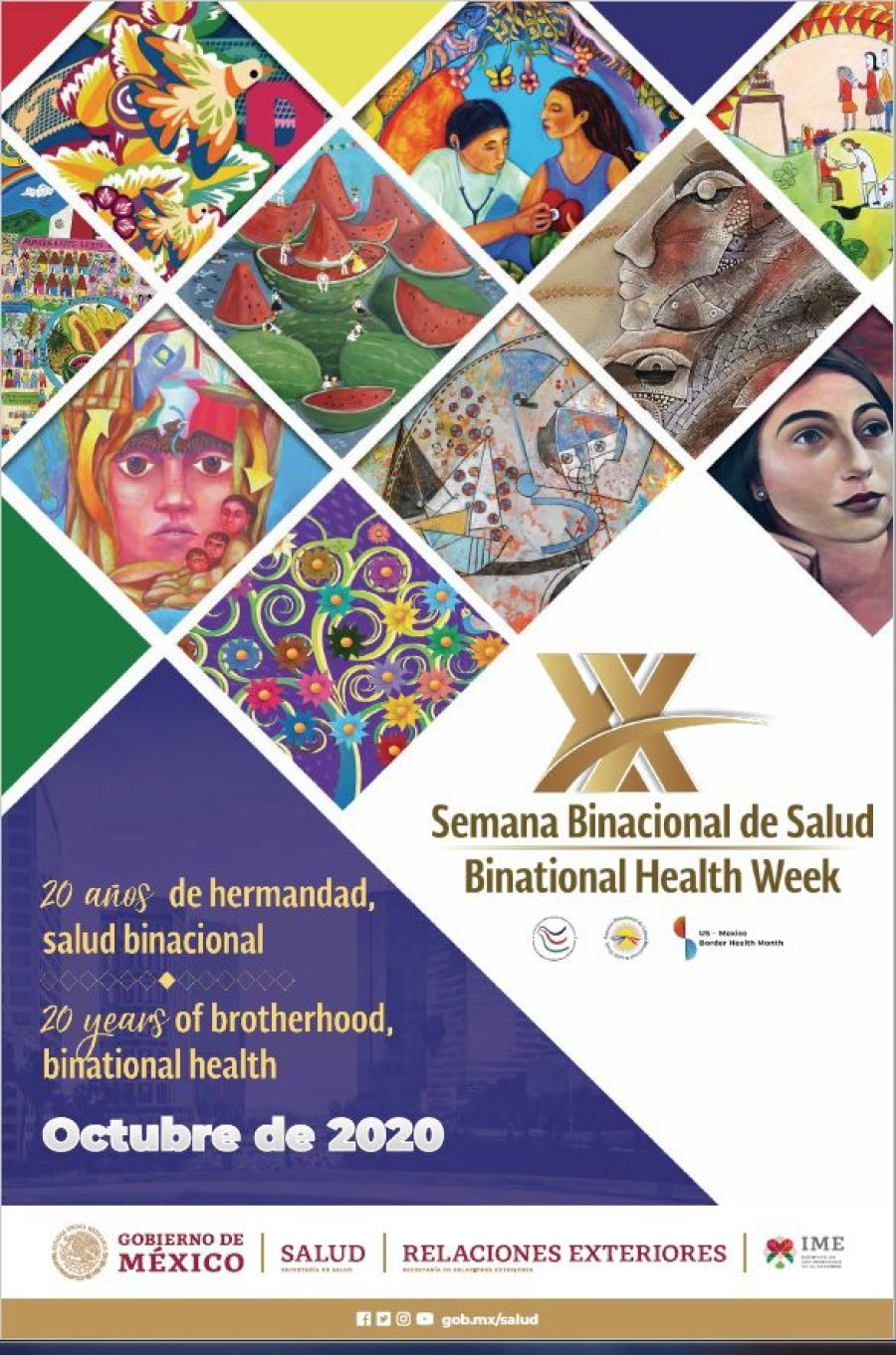 Binational Health Week Poster, event info transcribed below