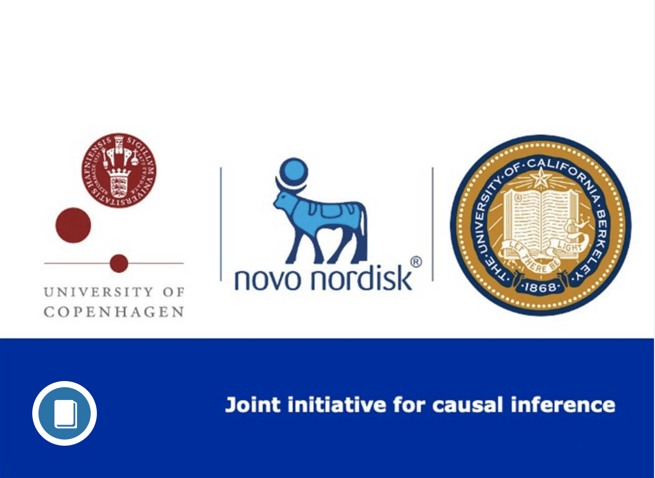 Logos for University of Copenhagen, Novo Nordisk, and UC Berkeley