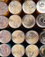 Cans Tin Packaging Background Durability Lids