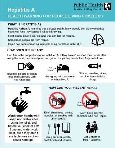 FINAL Hepatitis A fact sheet People Living Homeless