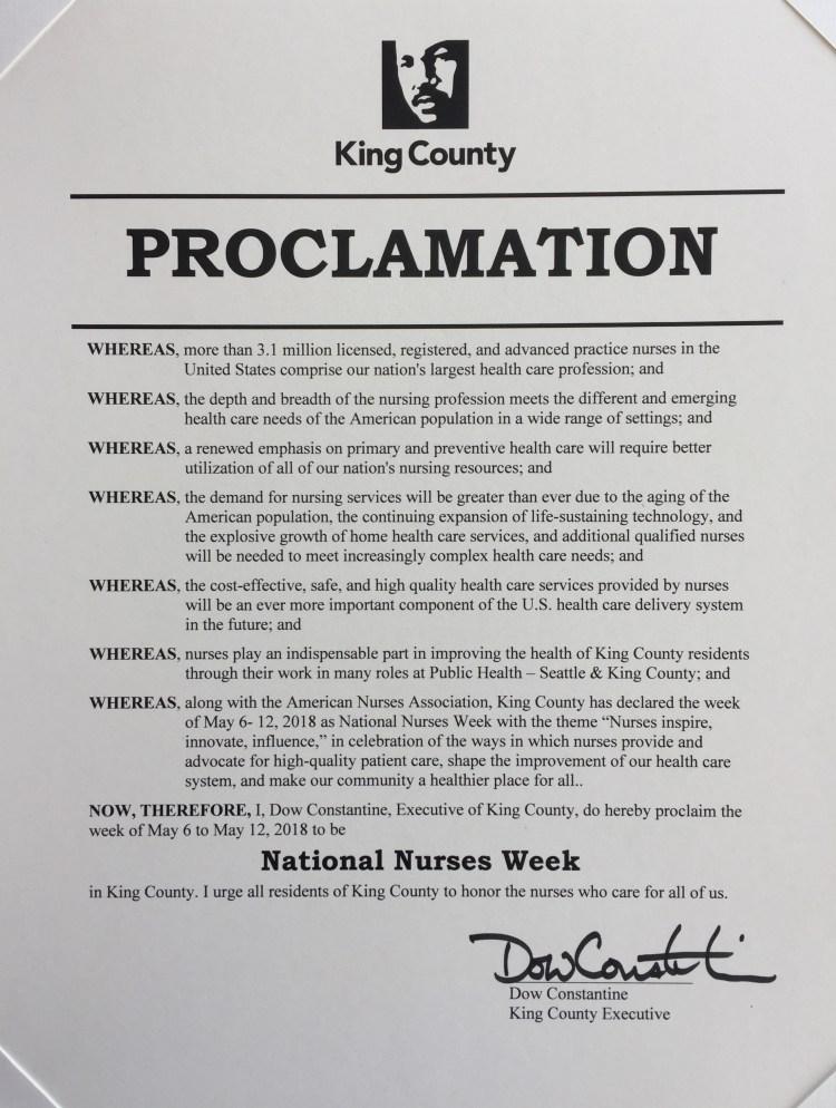 Nurses Week proclamation