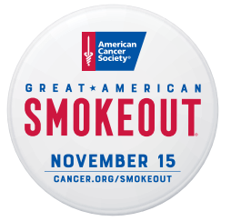 Great american smokeout button