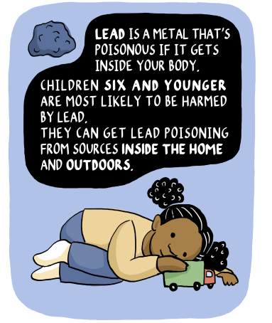 Children 6 and younger are most likely to be harmed by lead.