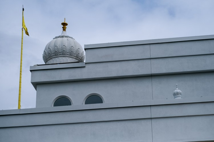 A dome atop the gurudwara