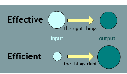 Differences Between Effectiveness And Efficiency Public