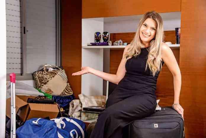 Cristiane, na casa nova: apartamento antigo foi vendido ao Zap (Ligia Skowronski/Veja SP)