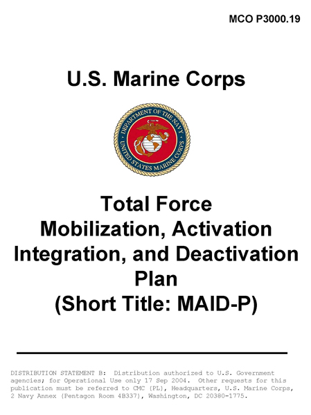 USMC Total Force Mobilization, Activation, Integration