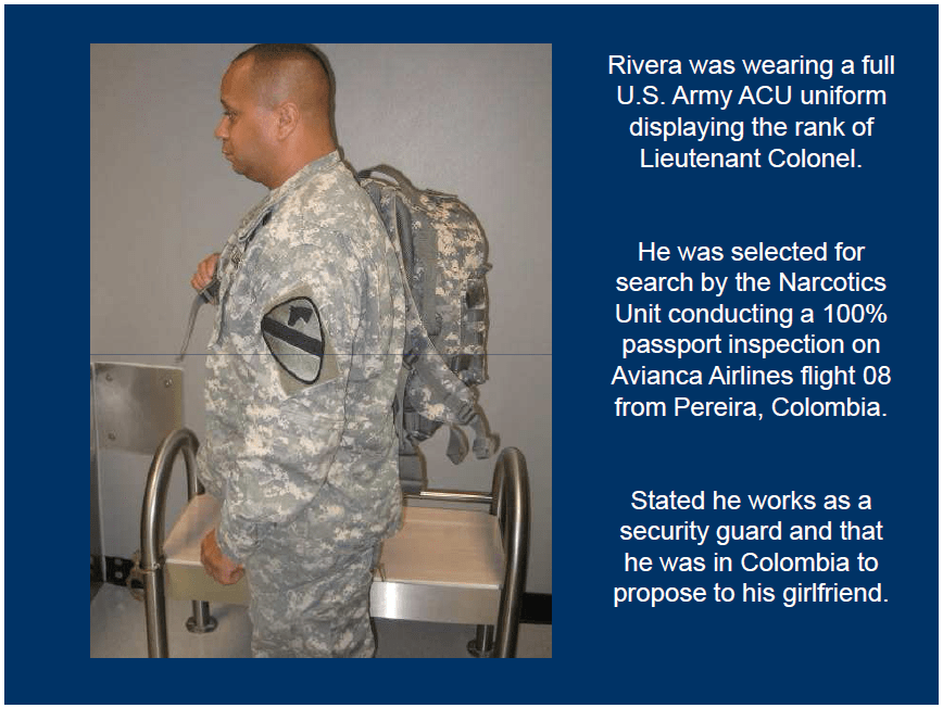 Customs And Border Protection Colombian Us Army Imposter