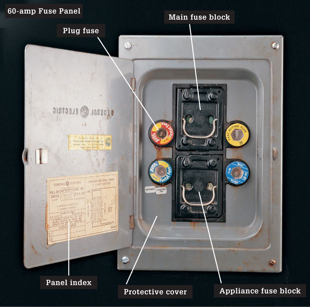 medium resolution of a circuit breaker panel providing 100 amps or more of current is common in wiring systems installed during the 1960s and later a circuit breaker panel is