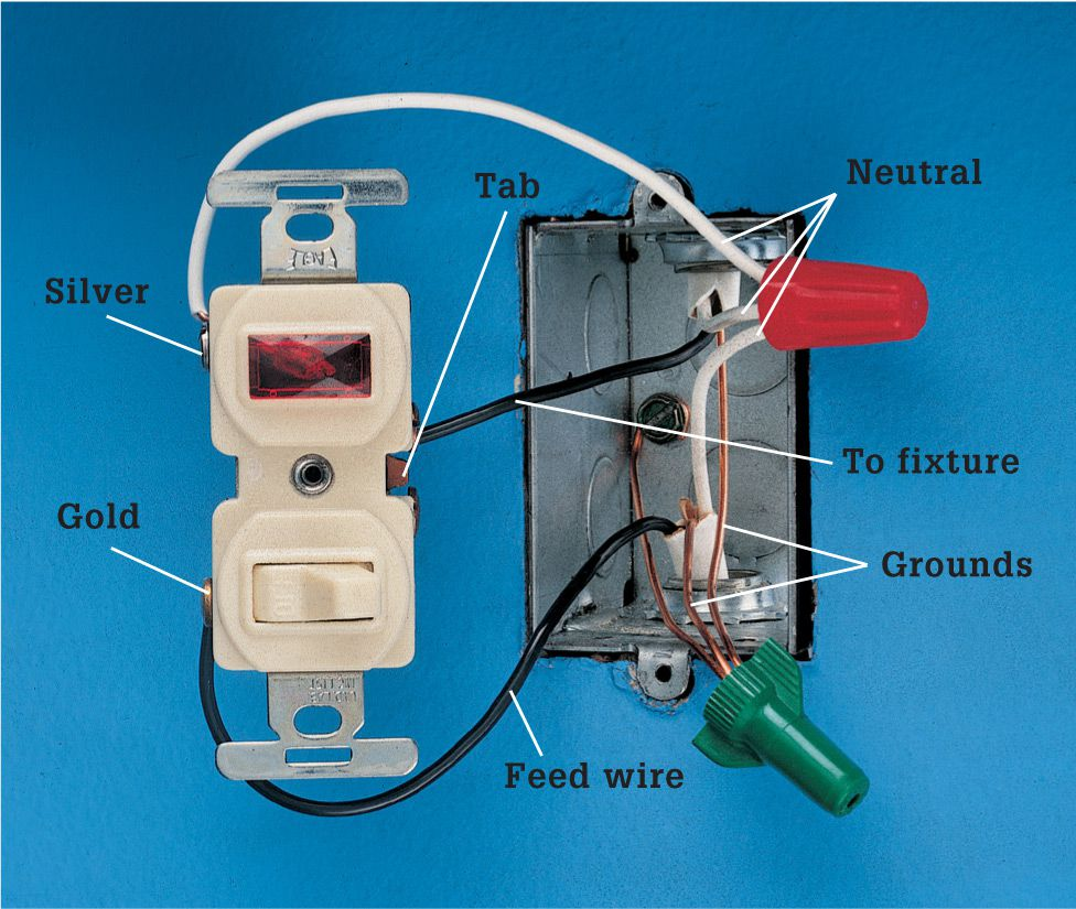 medium resolution of pilot light switch wiring three wires are connected to the switch one black wire is the feed wire that brings power into the box