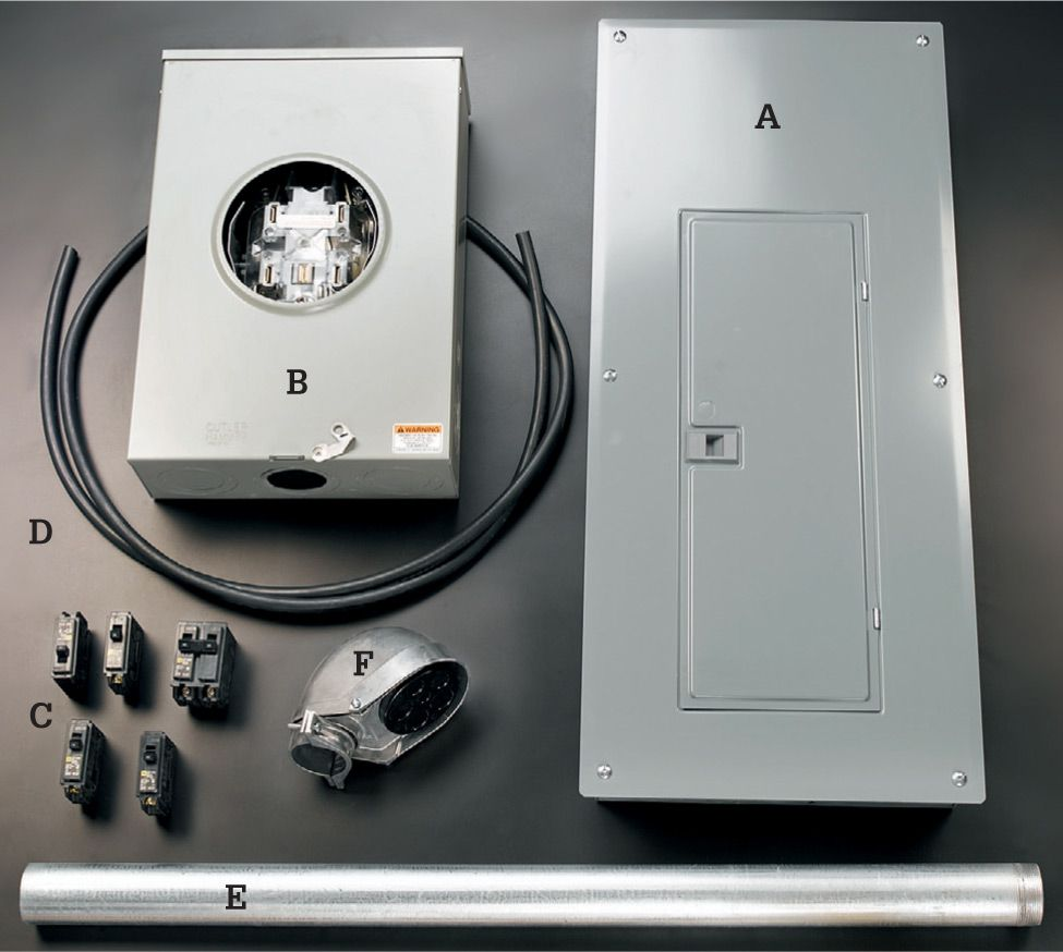 hight resolution of it includes a a new 200 amp panel b a 200 amp bypass meter base also called