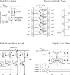 the 7407 buffer ic can be used with the uln2003 to construct a full stepper driver other ics such as motorola s mc1414 darlington array ic  [ 1569 x 1186 Pixel ]