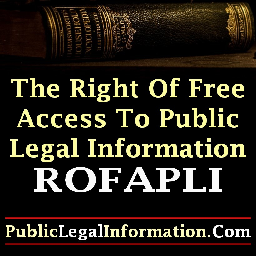The Right Of Access To Public Legal Information Blog