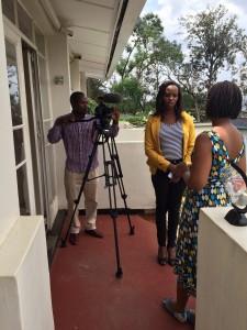 Filming at Rinda Ubuzima. Image: Kristian Porter