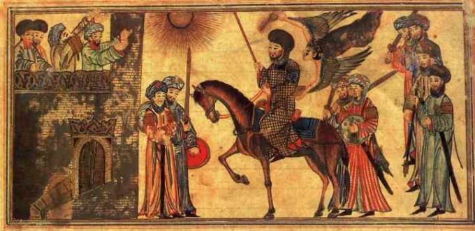 Mohammed receiving the submission of the Banu Nadir - Wikimedia