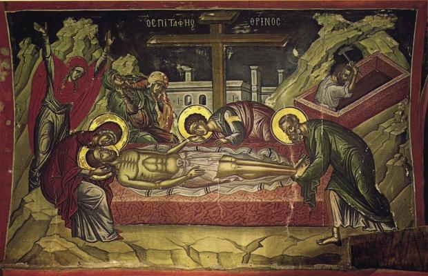 Epitaphios, Stavronikita Monastery, Mt. Athos