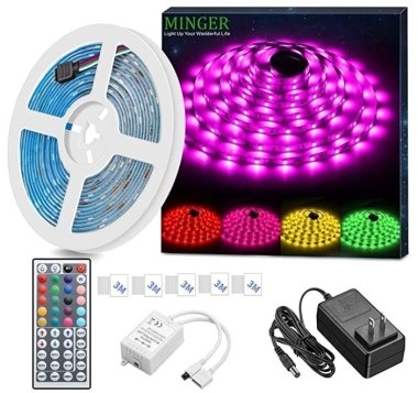 MINGER LED Strip Light Waterproof Rope Lighting Color Changing