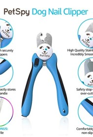 PetSpy Best Dog Nail Clippers and Trimmer with Quick Sensor