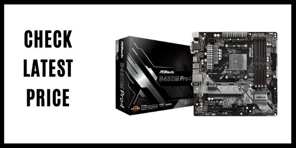 ASRock B450M PRO4 AM4 AMD Promontory Micro ATX AMD Motherboard