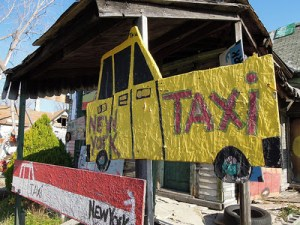 New York Taxis cruising the Heidelberg Project. © Ted Drake | Creative Commons CC-BY-ND 2.0 License