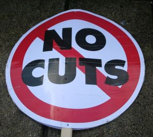 Placard used by striking English public workers over pension cuts © claudia gabriela marques vieira | Flickr