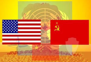 Graphic symbolizing the Cold War © Anynobody | Wikimedia Commons