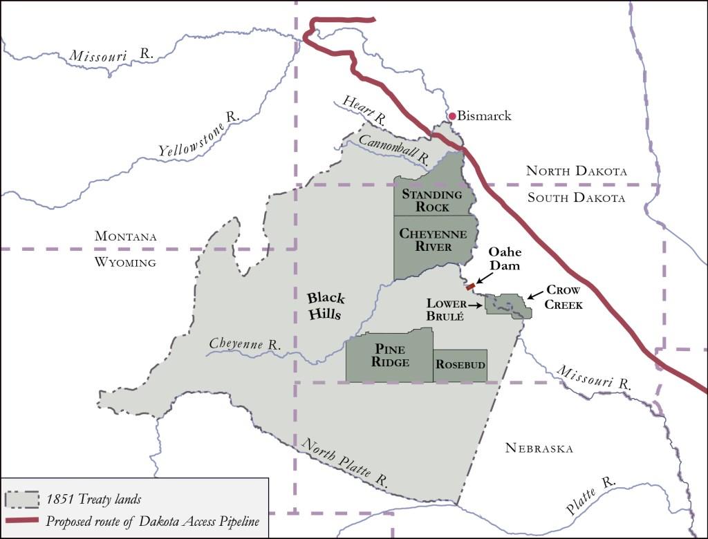 Map of DAPL © Rebecca Wrenn