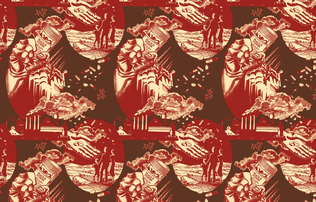 Wallpaper adapted from Worker's Apartment, 2013 © Avram Finkelstein   AIDS at Home: Art and Everyday Activism