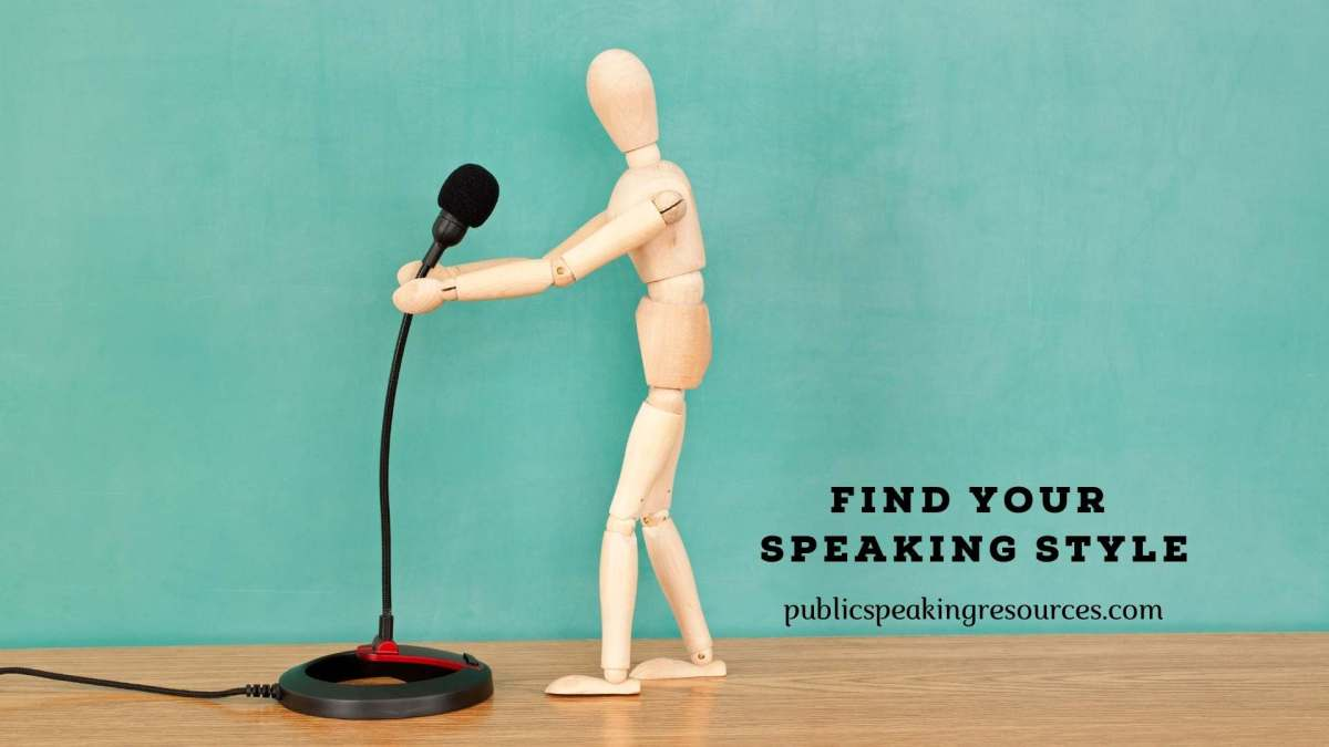 Finding Your Speaking Style