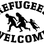 Vluchtelingen over de vloer