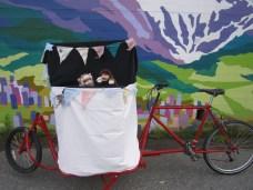 a mobile theatre on a custom long-john cargo bike!