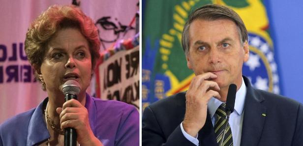 Dilma Rousseff e Jair Bolsonaro