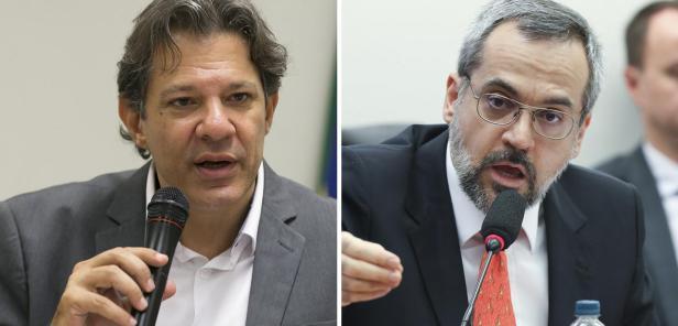 Fernando Haddad e Abraham Weintraub
