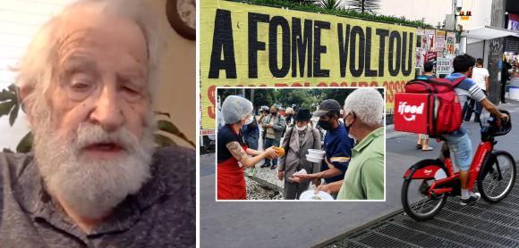"""""""Raramente vi um país onde a elite tem tanto desprezo pelos pobres como o Brasil"""", diz Noam Chomsky"""
