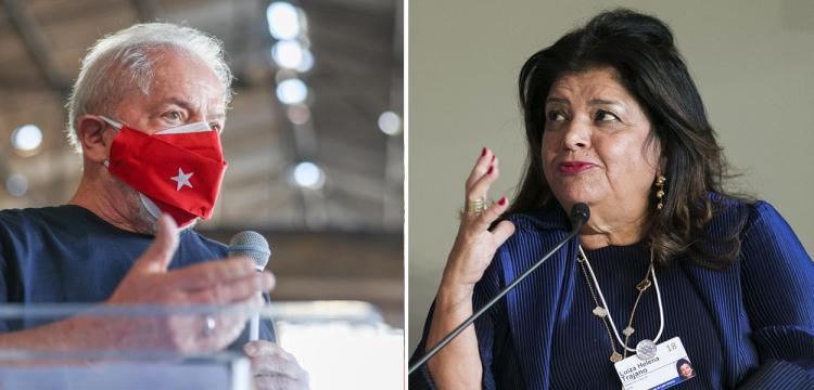 Ex-presidente Luiz Inácio Lula da Silva e a empresária Luiza Trajano