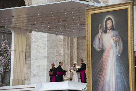Pope Francis at the Divine Mercy Vigil in St. Peter's Square on April 2, 2016.
