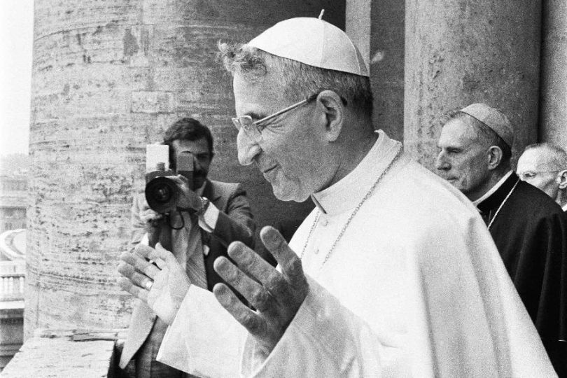 Pope John Paul I is seen in an undated file photo.