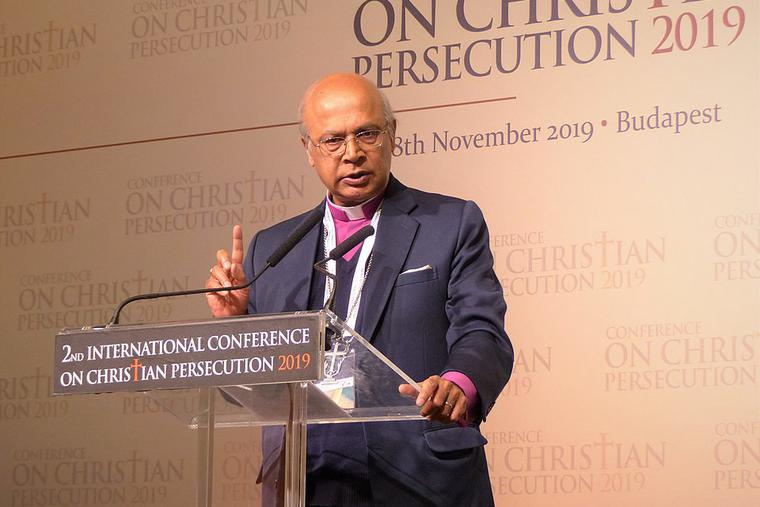 The Rt. Rev. Michael Nazir-Ali, the former Anglican bishop of Rochester, England speaking at the International Conference on Christian Persecution.
