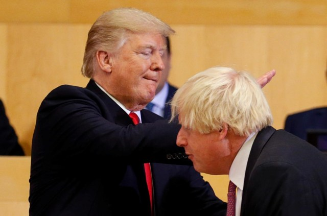 Donald Tramp, Boris Džonson