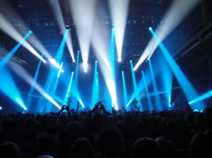Lights and sounds of a live concert