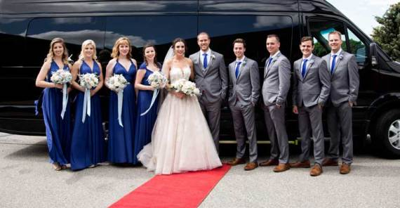 decorated limo bus kitchener