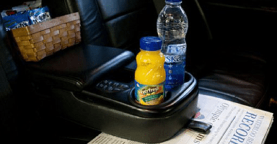 Beverages and the daily news will await you when you get in the limousine