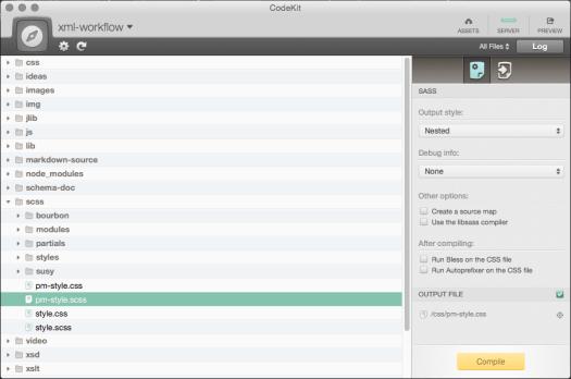 Codekit Compilation Options